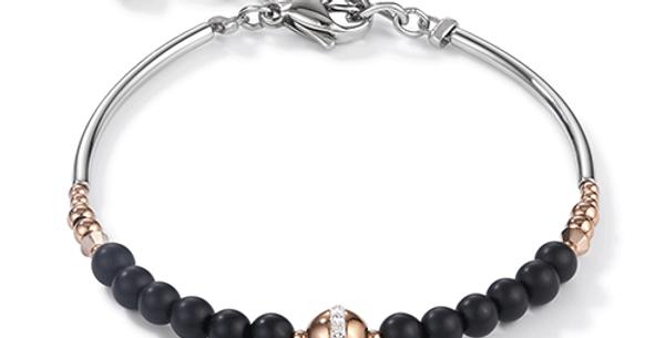 Bracelet Noir, Cœur de Lion