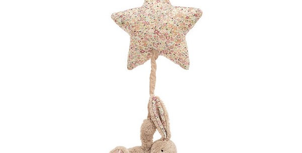 Blossom Béa Benny Beige Musical Pull, Jellycat
