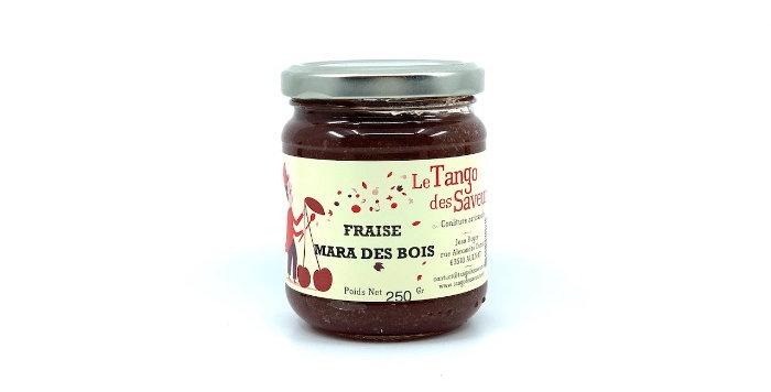 Confiture Fraise Mara des Bois, 250g, Le Tango des Saveurs