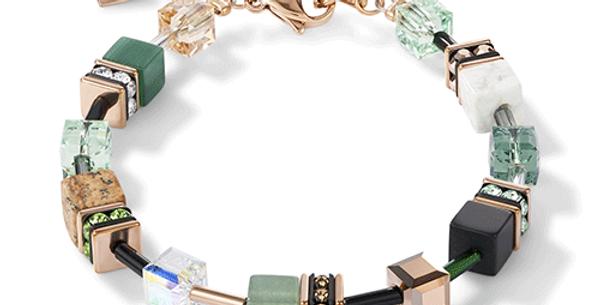 Bracelet Vert Beige, Cœur de Lion
