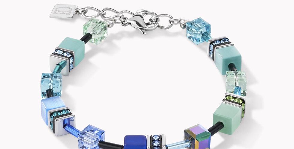 Bracelet Geo Cube Bleu-Vert, Coeur De Lion