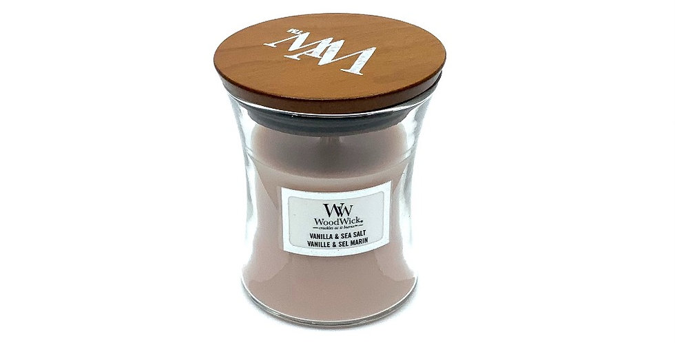 Bougie Pm Vanille Et Sel Marin, Woodwick