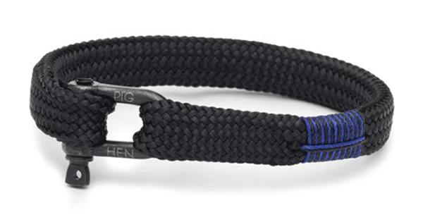 Bracelet Corde Black L, Pig & Hen