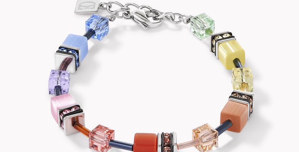 Bracelet Géo Cube Multicolore Soft, Coeur De Lion
