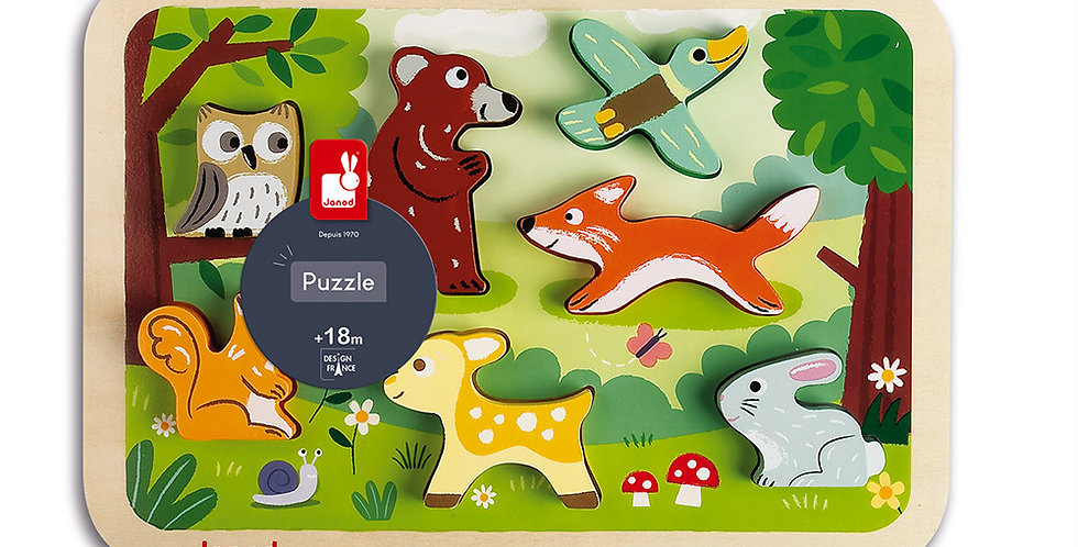 Chunky Puzzle Foret, Janod