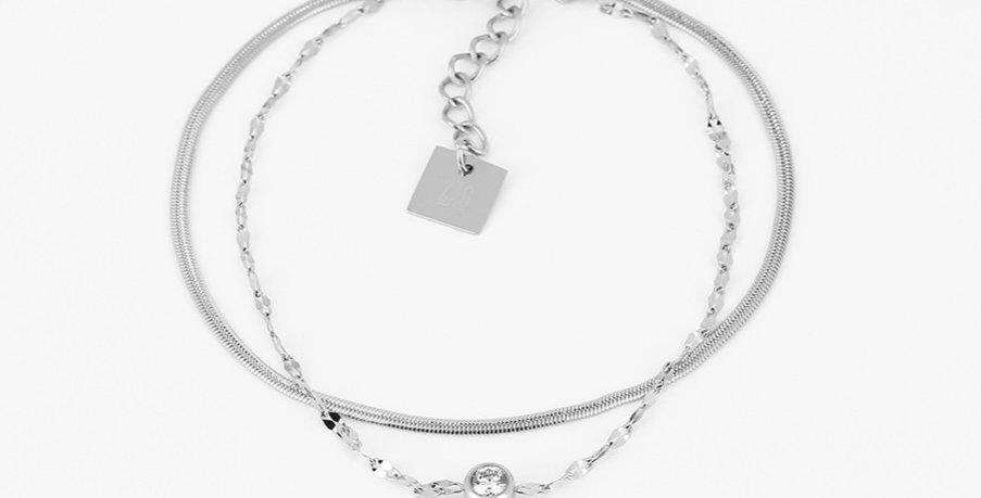 Bracelet Sahiba Acier Zirconium, Zag