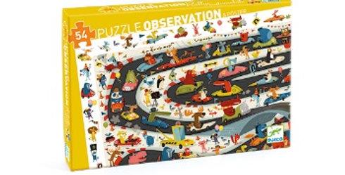 Puzzle Rallye Auto, 54 pièces, Djeco