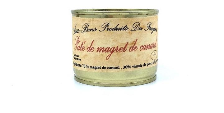 Pâté de Magret de Canard Fourré au Foie Gras, 180g, Aux Bons Produits du Fraysse