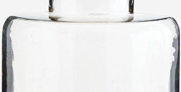 Vase Plat Verre GM, Madam Stoltz