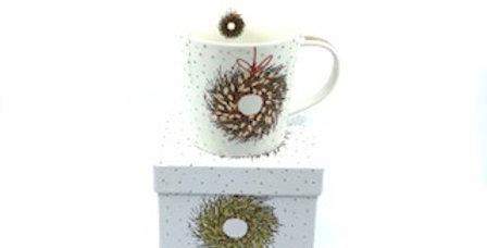 Mug Couronne de Noël, Porcelaine, PPD