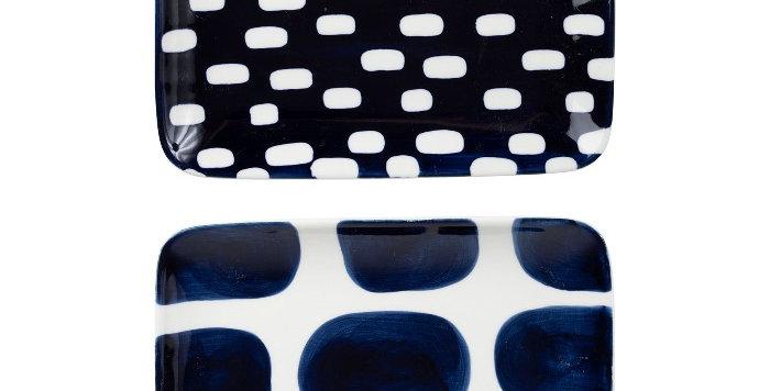 Plat Rect Terrea Bleu Foncé, Cote Table