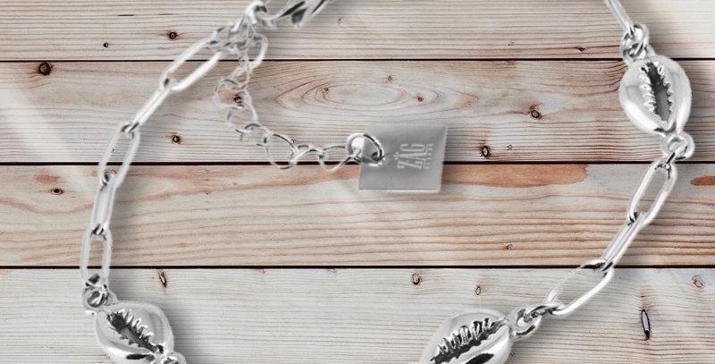 Bracelet Coquillages ArgentéAcier, Zag