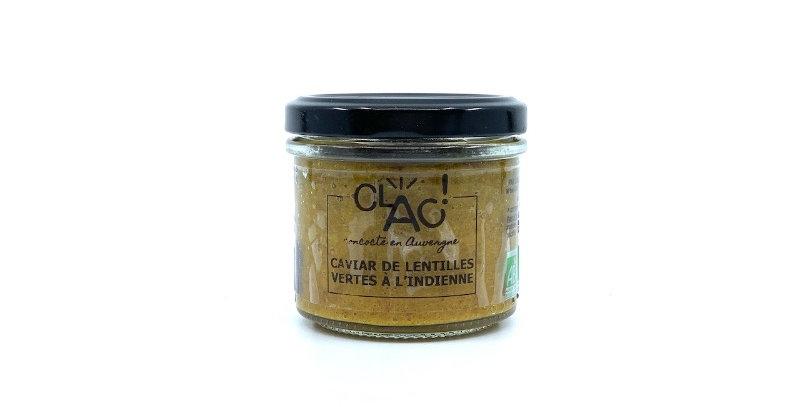 Caviar de Lentilles Vertes à l'Indienne, 100g, Clac