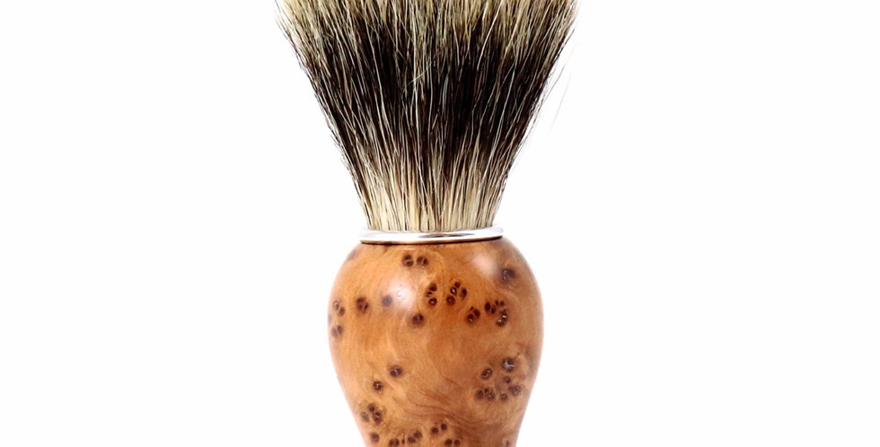 Blaireau Bois De Thuya Pur Badger, Gentleman Barbier