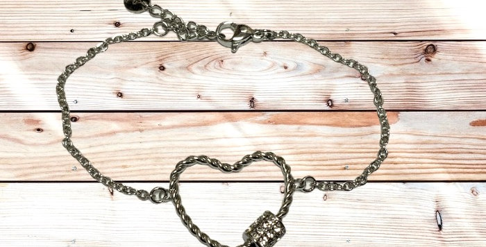 Bracelet Coeur Argenté Strass