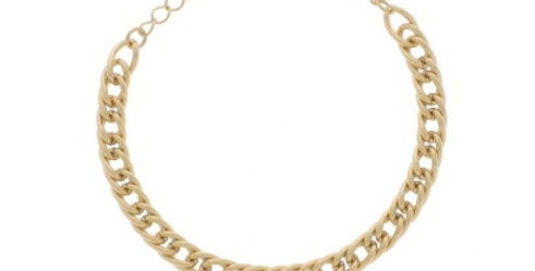 Bracelet Maille Doré Acier