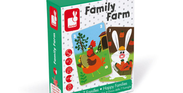 Jeu de 7 Familles, Family Farm, Janod