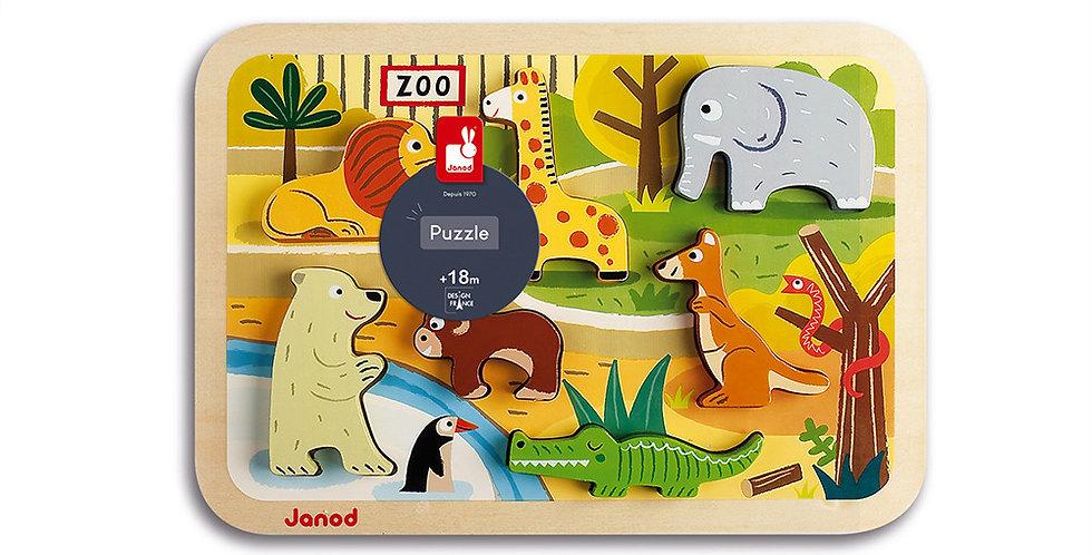 Chunky Puzzle Zoo, Janod