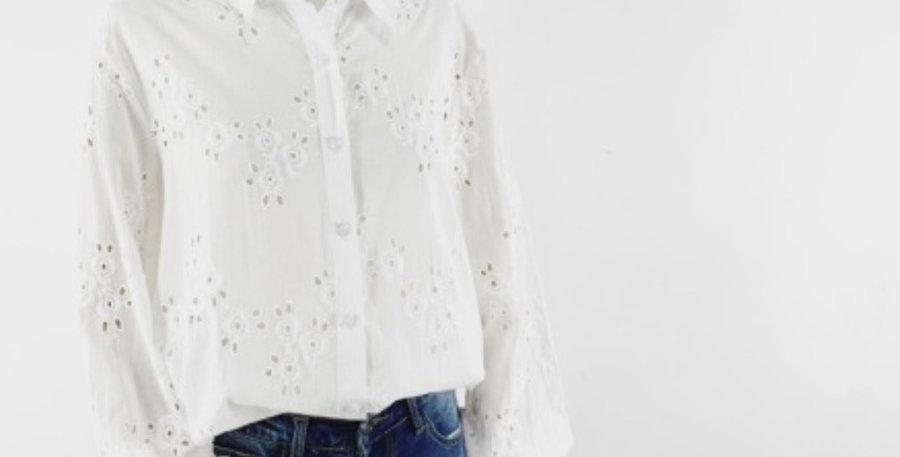 Chemisier/blouse Broderies Fleurs