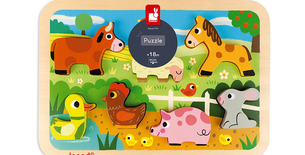 Chunky Puzzle Ferme, Janod