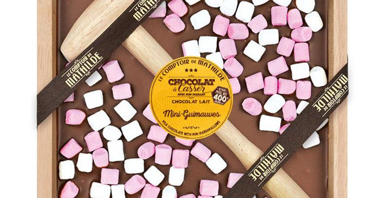 Chocolat à Casser Lait Guimauves, Le Comptoir De Mathilde