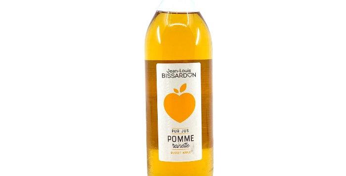 Jus Pomme Reinette, 100% Pur Jus, 1L, Bissardon