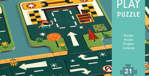 Pop to Play Routes, 21 pièces, Djeco