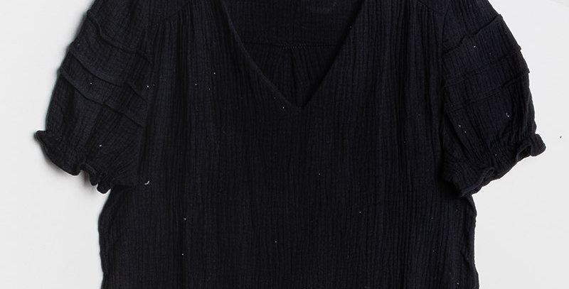 Blouse Gaze Coton Noire