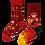Thumbnail: Chaussettes Dépareillées Fireman, Many mornings