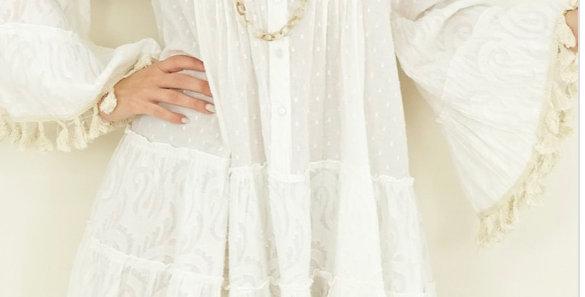 Robe Pompons Hilda Blanche