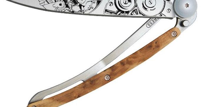 Couteau 37g, Deejo Genévrier Garde-Temps