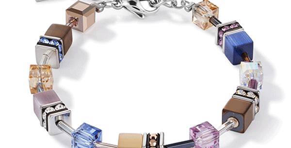 Bracelet Bleu Marron Lilas, Cœur de Lion