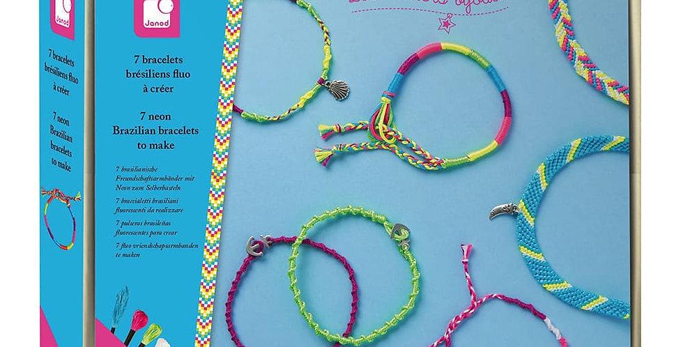 Bracelets Brésiliens à Créer Fluo, Janod