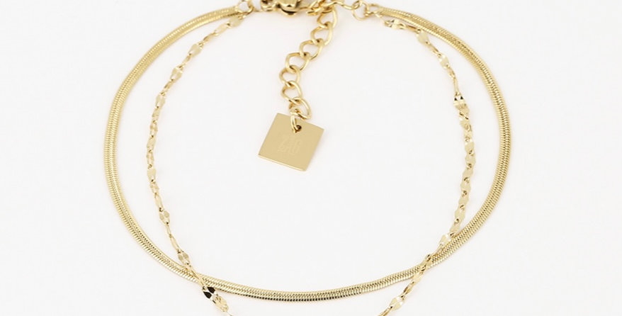 Bracelet Sahiba Acier Doré Zirconium, Zag