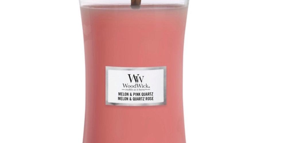 Bougie GM Melon & Quartz Rose, Woodwick