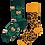 Thumbnail: Chaussettes Dépareillées Leopard, Many Mornings