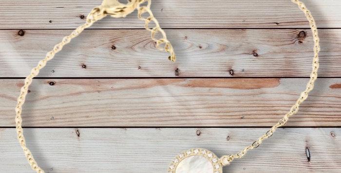 Bracelet Doré Acier Nacre, Zag