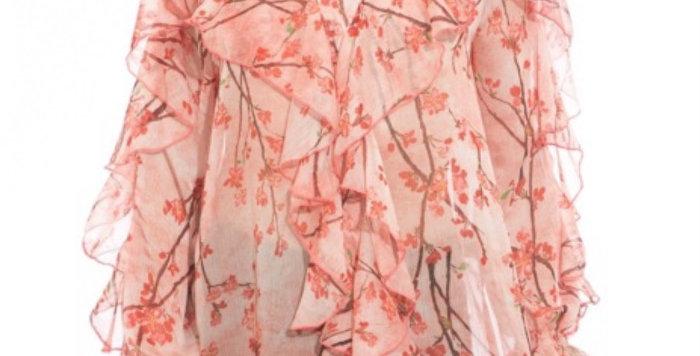 Blouse Imprimé Fleurs De Cerisier