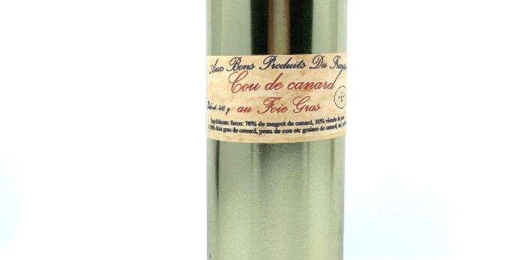 Cou de Canard au Foie Gras, 440g, Aux Bons Produits du Fraysse