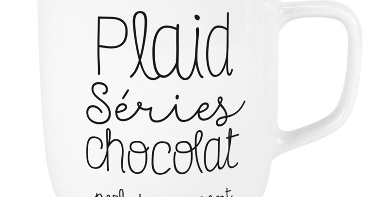 Mug XL Plaid Serie Chocolat, Labeltour