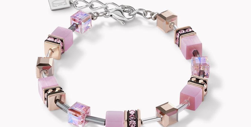 Bracelet Geo Cube Rose Clair, Coeur De Lion