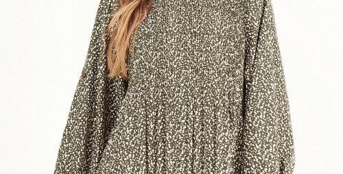 Robe Imprimée Kaki