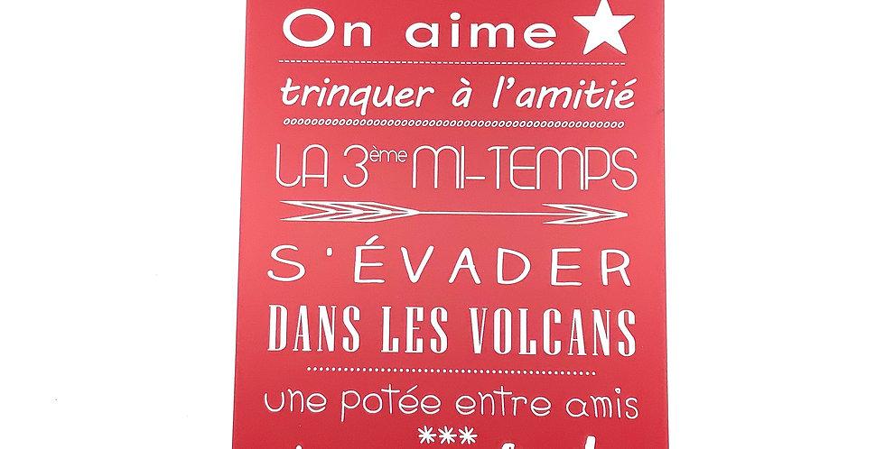 Pancarte GM Rouge Personnalisée Auvergne, Sophie Janière.