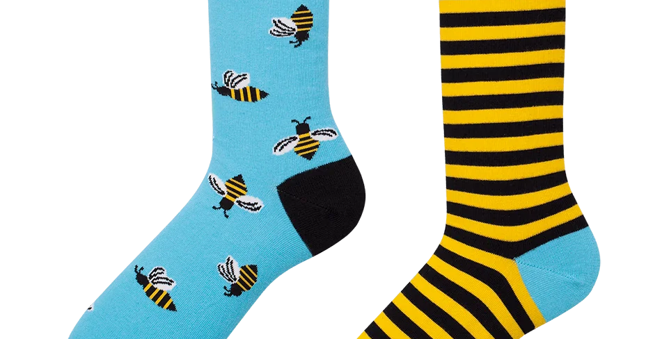 Chaussettes Dépareillées Bee Bee  , Many Mornings