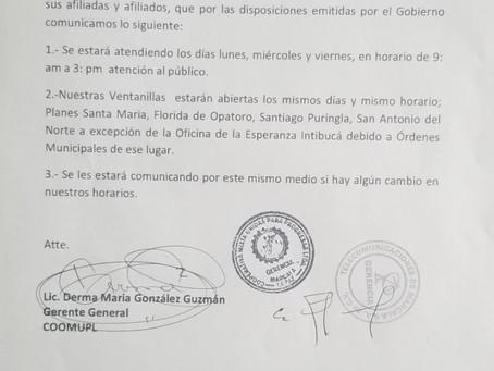 """ATENCIÓN AFILIADAS Y AFILIADOS """"COMUNICADO"""""""