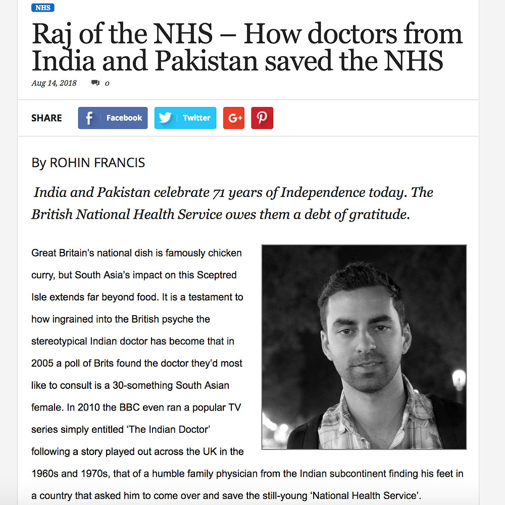 Raj of the NHS - Rohin Francis