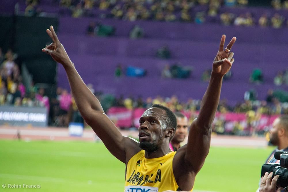 Usain Bolt's farewell lap