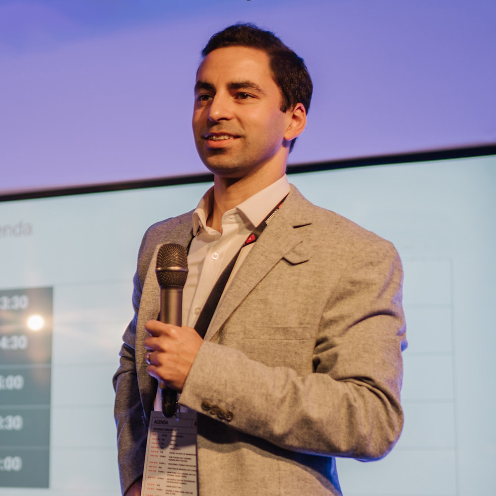 Rohin Francis presenting YouTube Educon, London 2020