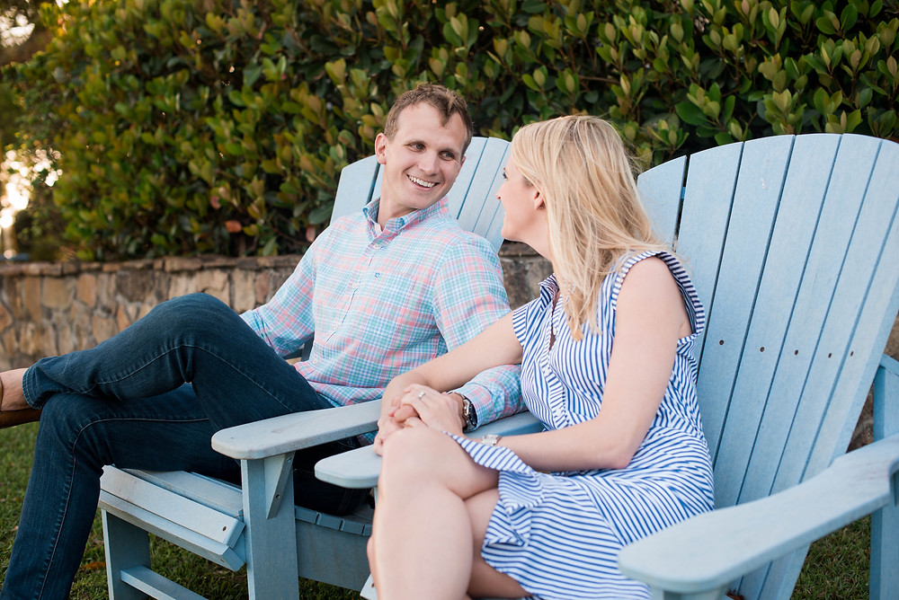 engagement photo session on the Crystal Coast