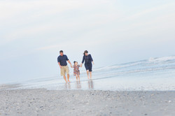 Family photo in Atlantic Beach, NC